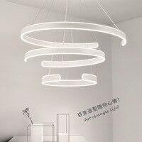40CM 60CM 80CM Modern Pendant Lights For Living Dining Room Parlor Circle Rings Acrylic Aluminum Body