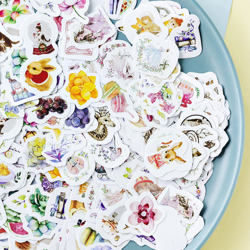 45pcs/pack Lovely Little Fairy Series Japanese Label Stickers Crafts Scrapbooking Decorative Sticker Diy Stationery