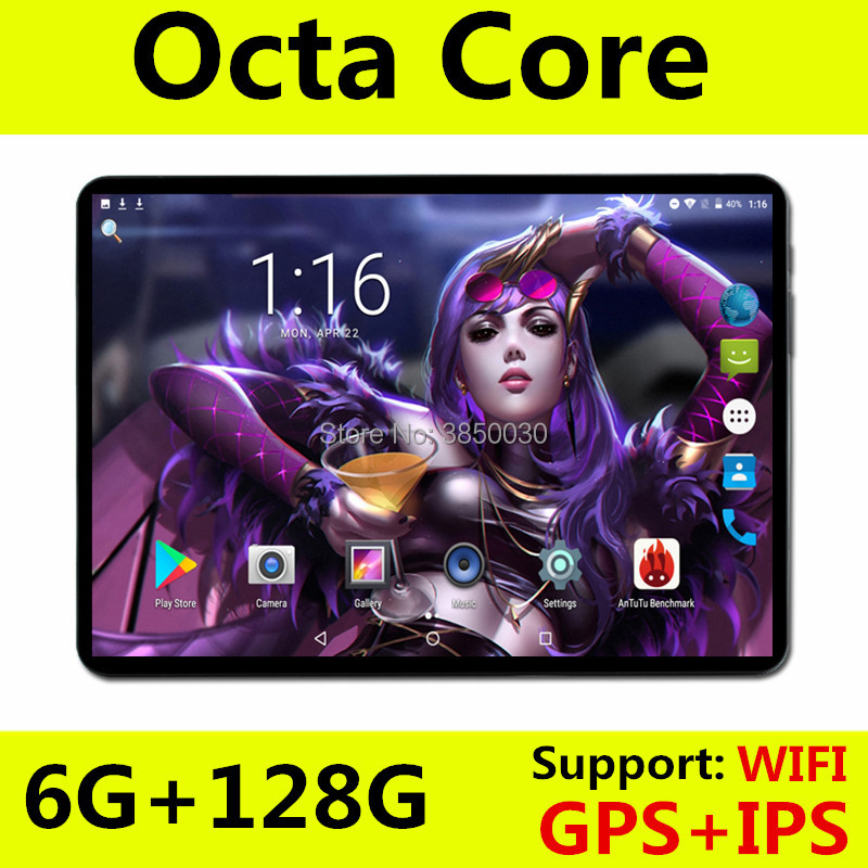 Android 8.0 Tablet 10 Inch Octa Core 4G LTE Phone Call Tablet 6GB 128GB Dual SIM 8.0MP Wifi Bluetooth 4G LTE GPS Tablets Pa