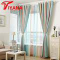 Tiyana Modern Elegant Multi Color Stripe Curtains Window Drapes for Living Room Bedroom Quality Sheer Curtain Home Decor P391Z20