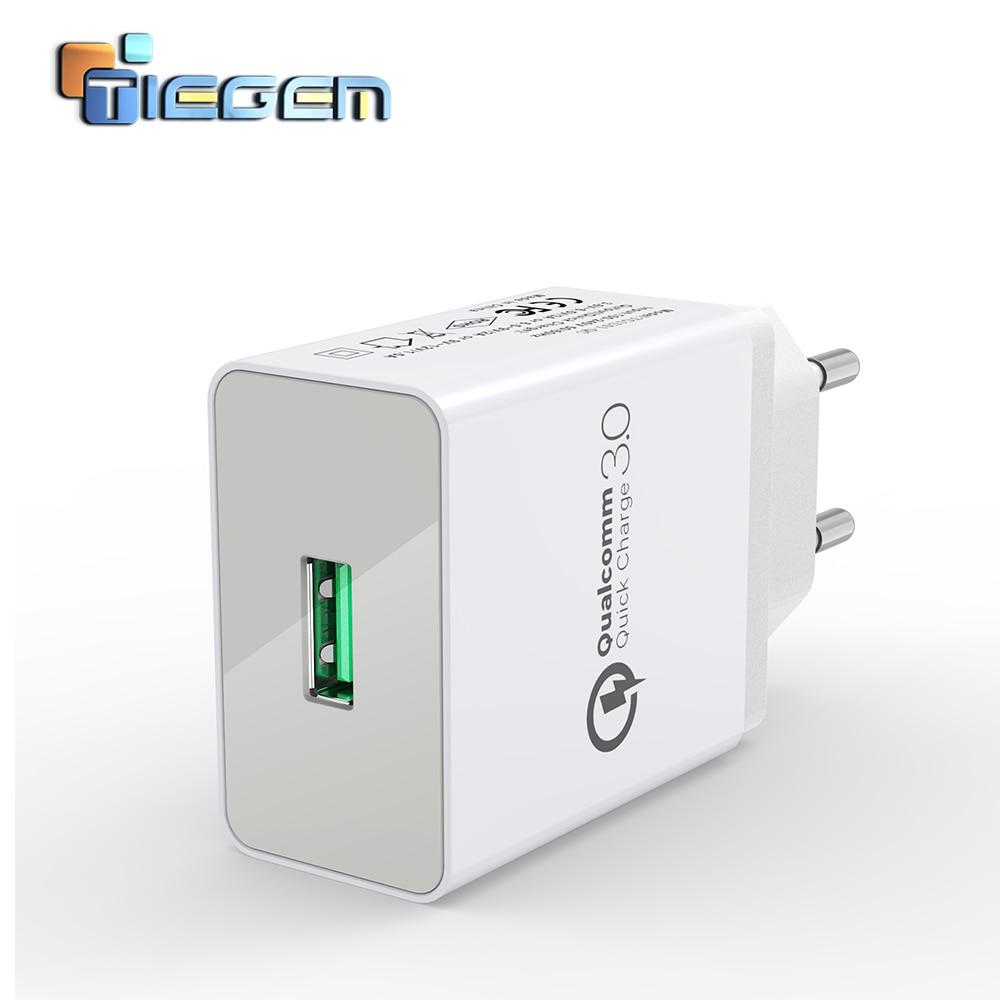 TIEGEM 18W Fast Quick Charge 3.0 Universal USB Wall Charger Adapter - Ανταλλακτικά και αξεσουάρ κινητών τηλεφώνων - Φωτογραφία 1