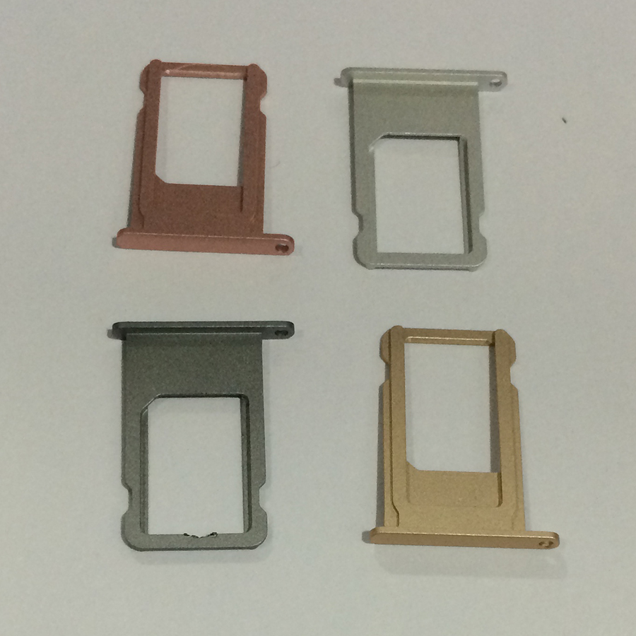 500Pcs for iPhone 6S Nano Sim Card Tray Holder Slot Gold Rose Gold Silver Gray Replacement Repair Parts
