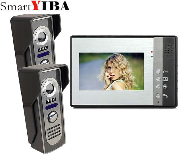 SmartYIBA 7 inch Video Intercom Monitor for Home Digital LCD Door Viewer video porteiro Video Door Phone Doorbell