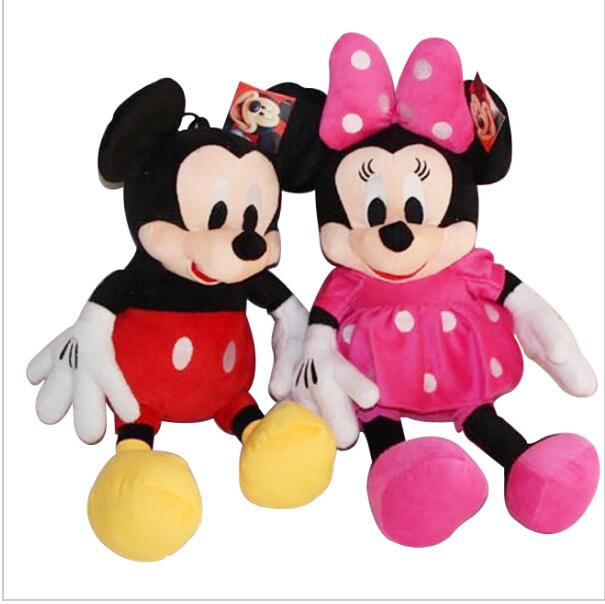 1pc 50cm Classical Plush Toy Stuffed Animal Mickey And Minnie Mouse Stuffed Doll For Children's Gift Christmas Gift 1pcs 28cm minnie and mickey mouse low price super plush doll stuffed animals plush toys for children s gift