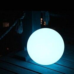 السحر RGBW led الكرة في الهواء الطلق القطر 25 سنتيمتر قابلة للشحن ، متوهجة المجال ، للماء إضاءة حمام السباحة/المسبح الكرة ل عطلة الديكور 1 قطعة