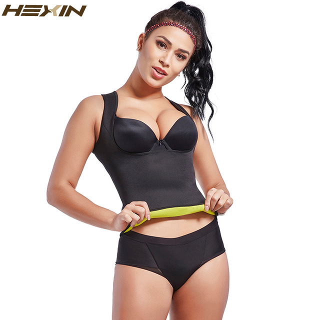 73df7769645 HEXIN Women s Hot Sweat Waist Trainer Slimming Vest Waist Trainer Body  Shaper for Weight Loss Shapewear