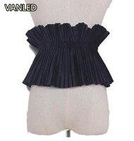 New Wide Velvet Thin Female Girdle Belt Women Elastic Flower Cummerbunds