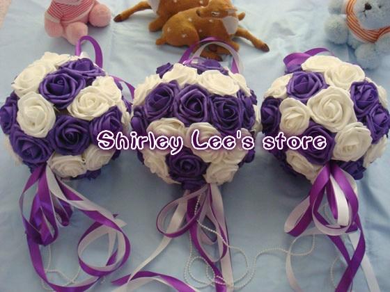 Novo !! 12 pcs X (20 cm) Artificial Pendurado Flor Bola Casamento - Para feriados e festas