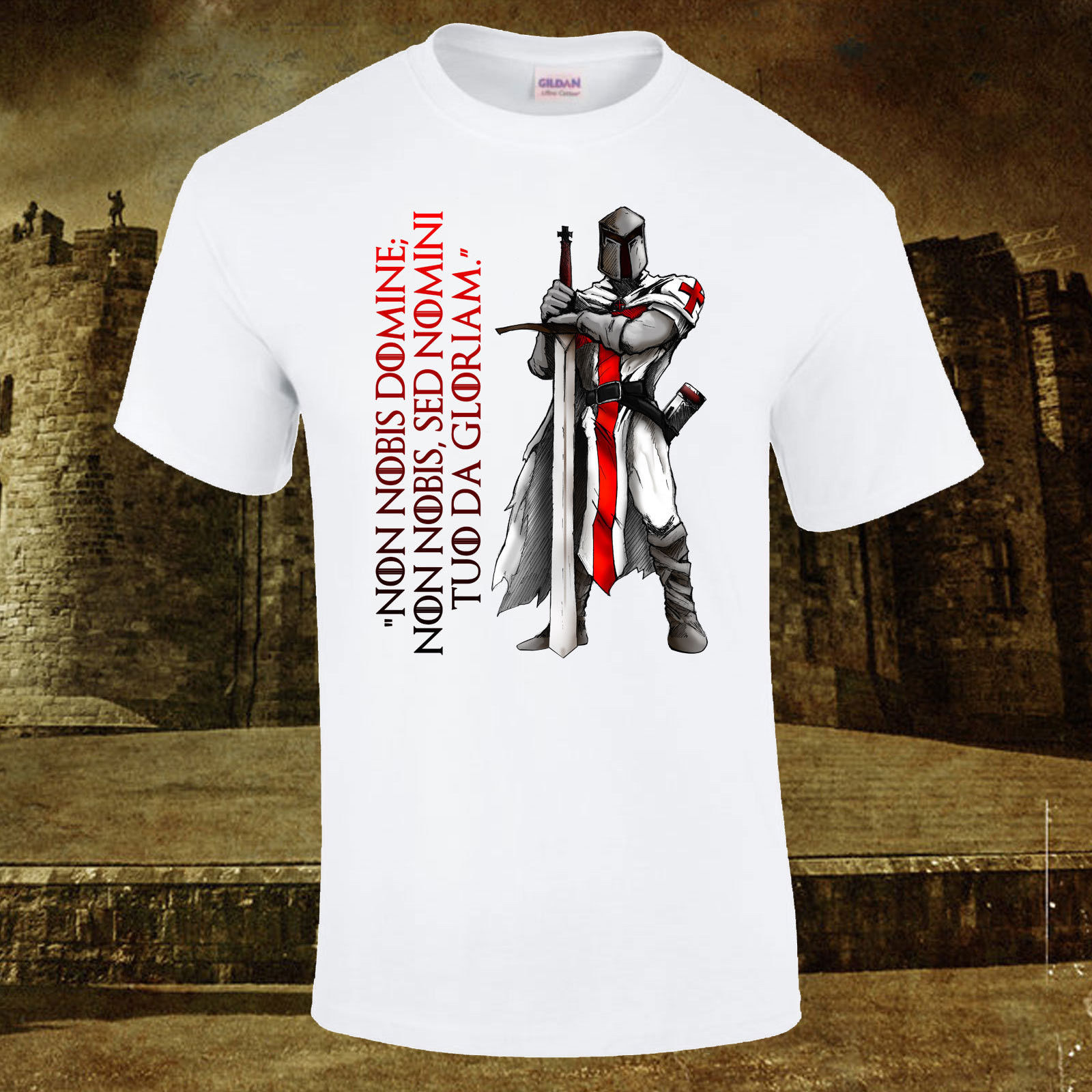 Knights Templar Crusader Teutonic Creed Gift Premium Quality DTG T-Shirt S-5XL New T Shirts Funny Tops Tee New Unisex Funny Tops