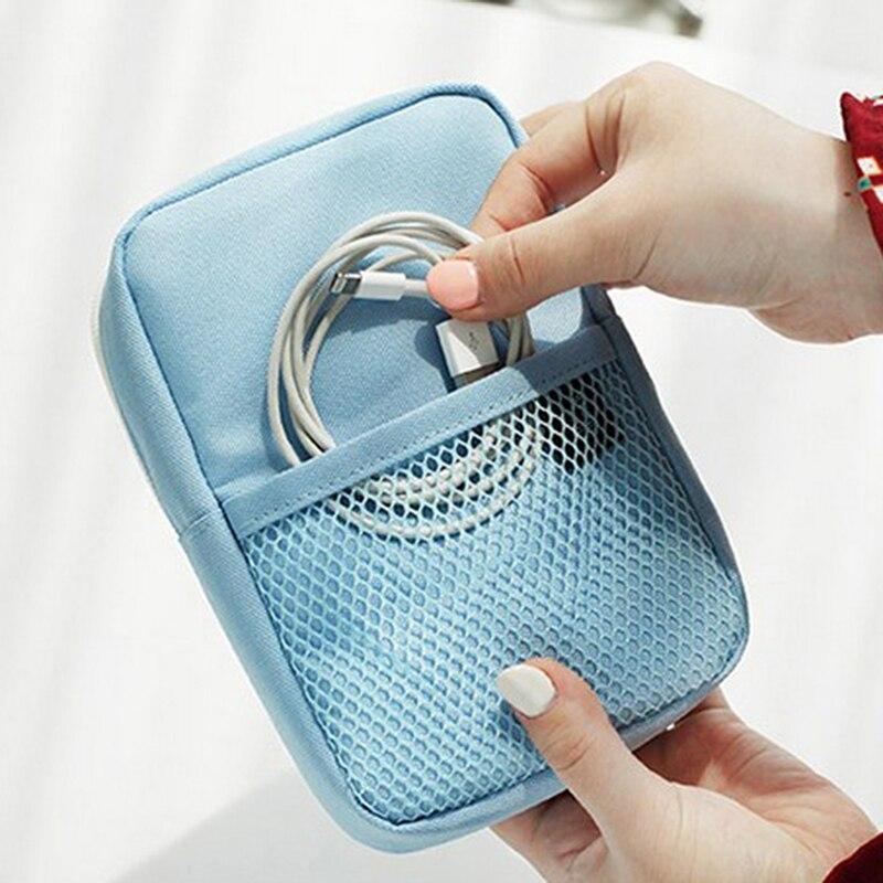 1 Pc Tragbare Digitale Tasche Daten Linien Power Bank Paket Multi-funktion Reise Männer Pouch Fall Zubehör Liefert Produkt SchöN In Farbe