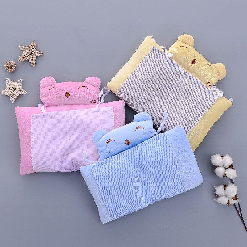 Velvet Anti-rollover Baby Pillow Toddler Cushion Infant Bedding Neck Protection