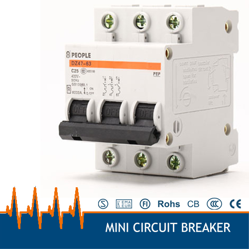 DZ47 63 AC380v 3 phase 25 amp miniature circuit breaker mcb-in Circuit Breakers from Home Improvement on Aliexpress.com | Alibaba Group