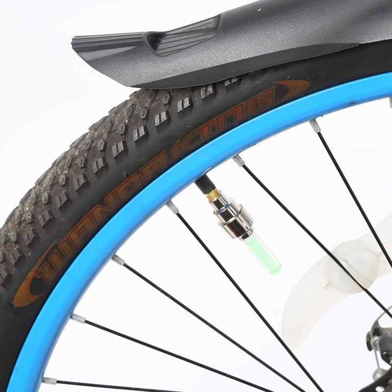 2 Pcs/Tas Sepeda Lampu Malam Aman Sepeda Sepeda Roda Ban Mobil Tutup Katup Berbicara Neon Lampu LED Warna Biru BARU Outdoor