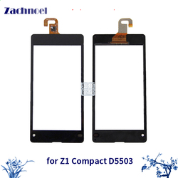 Zachnoel 4.3'' Touch for Sony Xperia Z1 Compact Mini D5503 M51W Touch Screen Digitizer Sensor Lens Front Glass Panel
