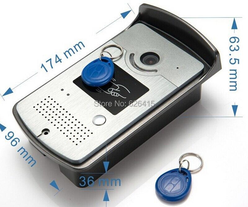 Video Intercom Door Phone System 1 RFID Card Reader HD Doorbell font b Camera b font