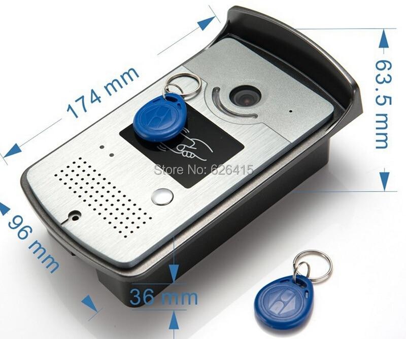bilder für Video Türsprechanlage System 1 Rfid-kartenleser HD Klingel-kamera Auf Lager Großhandel