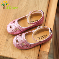 J Ghee New Spring Princess Girls Shoes Kids Single Shoes Cut-outs Cartoon Children's Sneakers Loafers For Girls Sequins 15-18CM