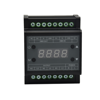 New DMX302 Led Triac dimmer DMX512 Dimmer Controller AC90V - 240V High Voltage 3CH *1A channel For Led panel Downlight Dimmer