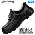 Sicherheit Arbeits Schuhe Stahl Kappe Leder Stiefel Atmungsaktive Pannensichere Arbeit Versicherung Schuhe Non-Slip Hohe temperatur widerstehen