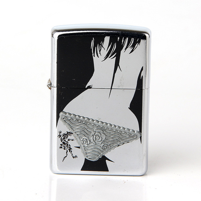 Metal Lighters Sexy Girls Creative Kerosene Wind
