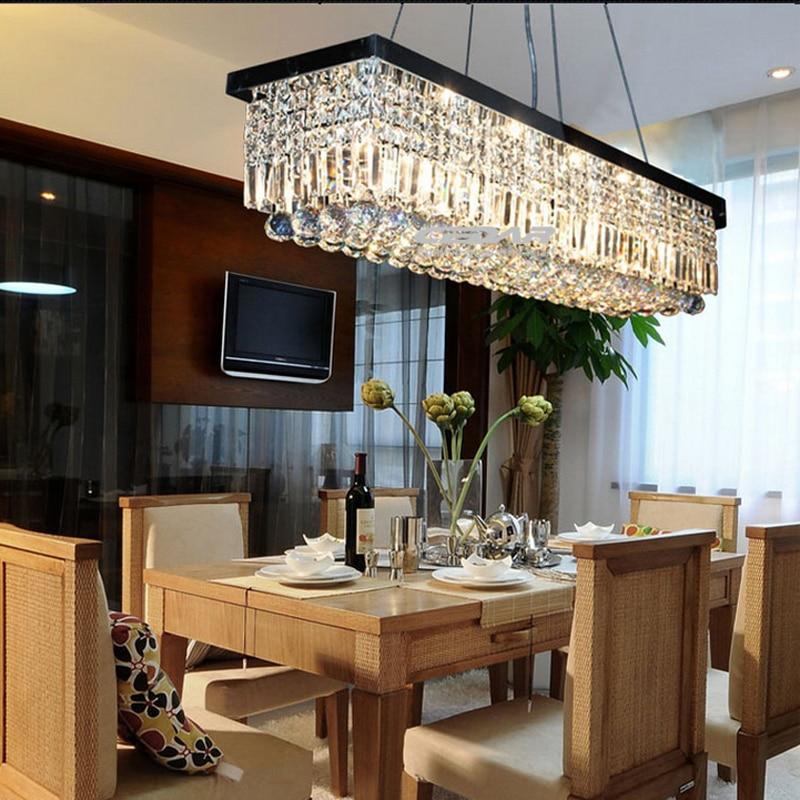 Offres Speciales Lustre Moderne En Cristal Ovale Chrome Suspension Luminaire Salle A Manger Luminaires Aliexpress
