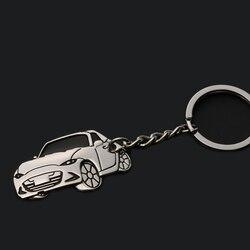 Nowy 3D projekt cynku ze stopu Aluminium ze stopu Aluminium brelok do kluczy brelok Car Styling akcesoria dla Mazda MX 5 Miata w Markizy i zadaszenia od Samochody i motocykle na
