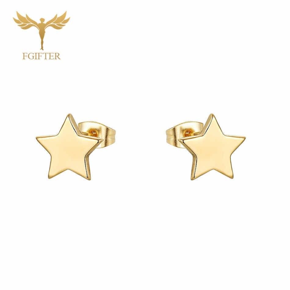 12 пар/лот Оптовая звезда серьги мужские и женские девушка Стад Серьги Золото Нержавеющаясталь ювелирные изделия моды