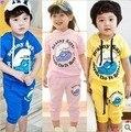 2016 Новое Прибытие babys случайные капюшоном спортивные костюмы девушки парни Мультфильм одежда детей Мастер подходит детям одежду, установленные