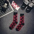 Хип-хоп Элита Носок Мода Harajuku Милый Красный Губ Скейтборд Длинные Хлопчатобумажные Носки Мужчины Женщины Графический Повседневная Носки Пара Носки