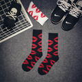 Hiphop Elite Sock Fashion Harajuku Cute Red Lip Skateboard Long Cotton Socks Men Women Graphic Casual Socks Couple Sox