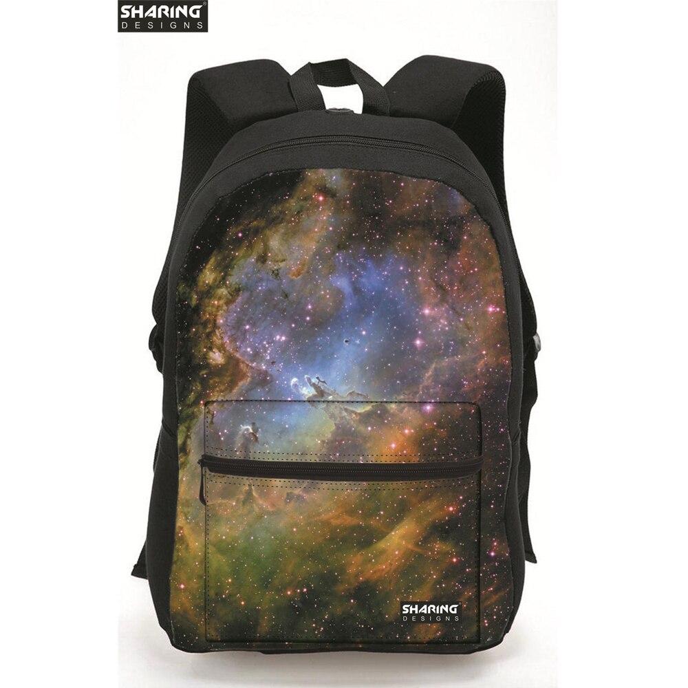Stijlvolle Vrouwen Rugzakken Cool Kleurrijke Galaxy Star Canvas Bagpack voor Tiener Meisjes Weekend activiteiten Reizen Laptop Hikin