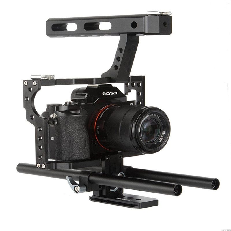 Viltrox 15mm Rod Rig DSLR Camera Video Cage Kit Stabilizer+Top Handle Grip for Sony A7R II A7R A7S A7SII Panasonic GH4