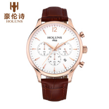 HOLUNS JY002 Watch Geneva Brand Chronograph watches men's business casual large multi needle quartz watch thin relogio masculino