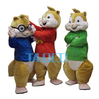 Factory Direct Sale Alvin and the Chipmunk Characters Cartoon Mascot Costume