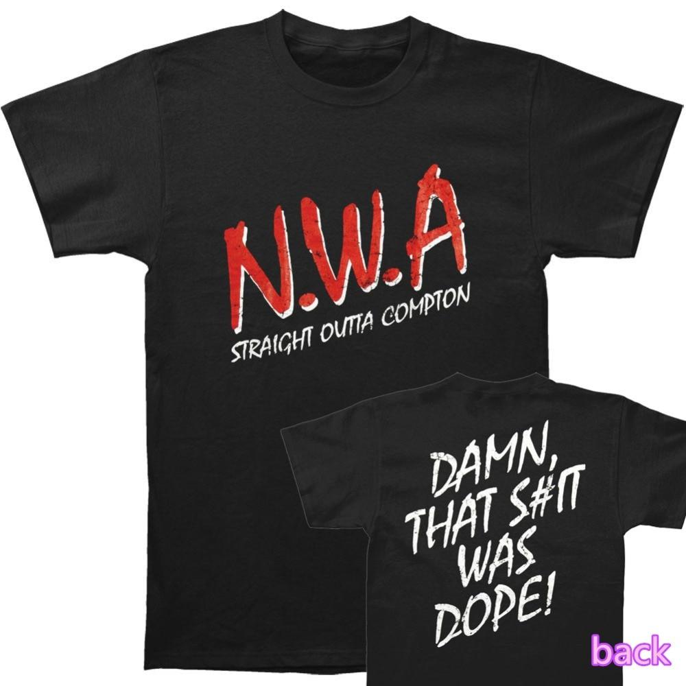NWA Straight Outta COMPTON T Shirt N.W.A. Hip Hop Rap Dr. Dre Eazy E DJ Yella MC Ren Tee euro sizeS-XXXL