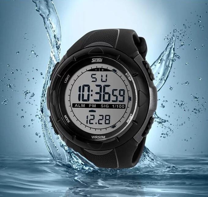 18 New Skmei Brand Men LED Digital Military Watch, 50M Dive Swim Dress Sports Watches Fashion Outdoor Wristwatches 13