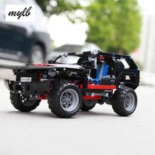 Mylb Cruiser SUV Transporte 589 pcs Car Racing Modelo Building Block Define Bricks DIY Brinquedos Educativos transporte da gota