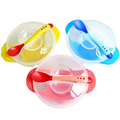 Toddler Baby Kids Child Feeding Training Bowl With Spoon Binaural Baby Feeding Tableware Children Plate Sucker Bowl 2pcs/set
