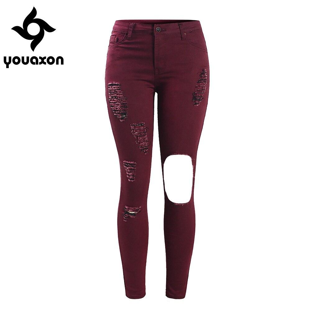 Plus size burgundy high waisted jeans