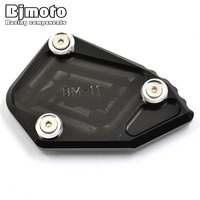 Bjmoto Motorcycle Stand Kickstand CNC Aluminum Side Stand Plate Enlarger For BMW BMW R1200GS R1200 ADV
