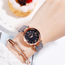 Gogoey Women Watches Bracelet Leather Starry Woman Watch Wrist New Ladies Clock Zegarki Damskie Byan Kol Saati