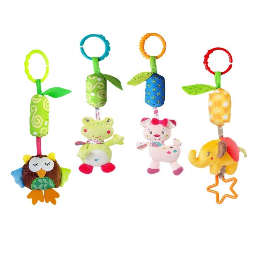 Gifts For Girls Boy Kid Toys Newborn baby Stroller Car Seat Travel Lathe Hanging Animal Handbells Rattles Toy