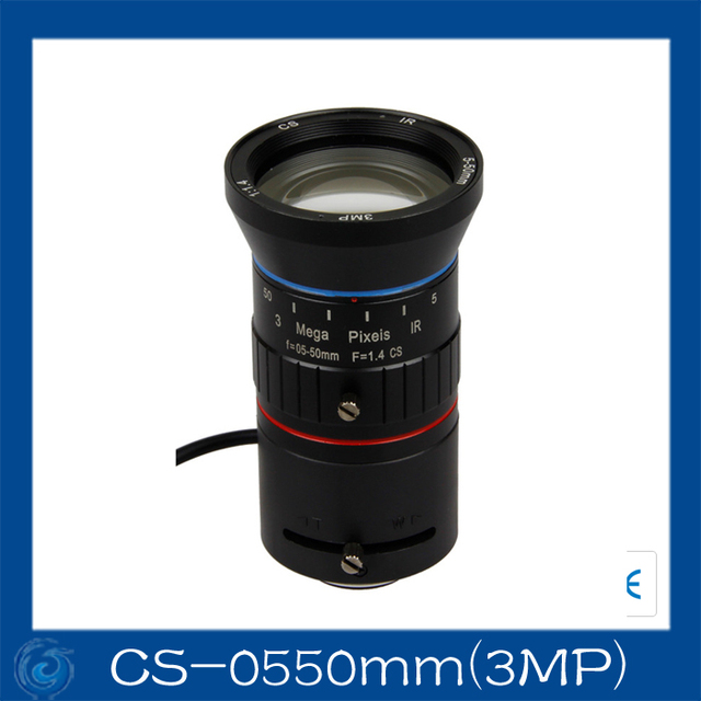 """1/2.7"""" Auto Vari-Focal 5-50mm F1.4 Lenses.CS-0550mm(3MP)"""