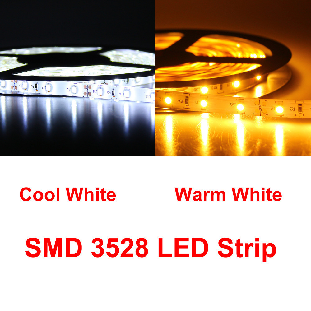 DC12V 5M 3528 5050 5630 Warm Cool White 300led SMD LED Strip Light,For Ceiling Bar Counter Cabinet Light + Adapter