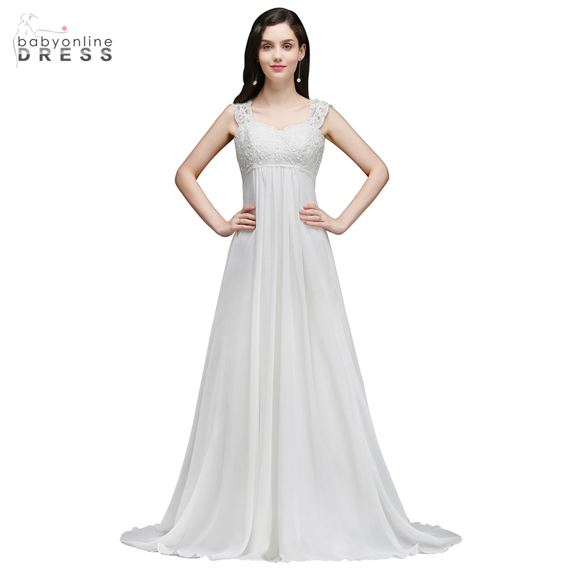 A Line Simple Wedding Dresses: Babyonline Dress A Line Sleeveless Simple Wedding Dress