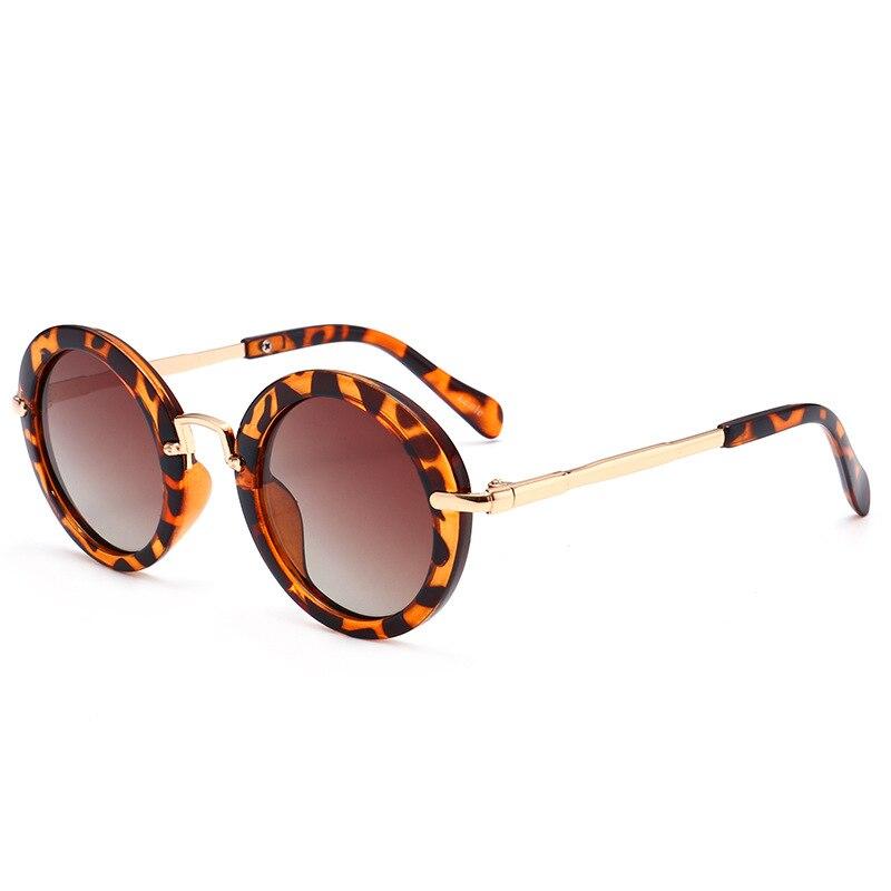 2018 font b Polarized b font Vintage Round font b Sunglasses b font Kids Fashion Metal