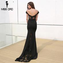 Missord 2017 Sexy do Assoalho-Comprimento do laço backless vestido de festa elegante bodycon FT3900-1