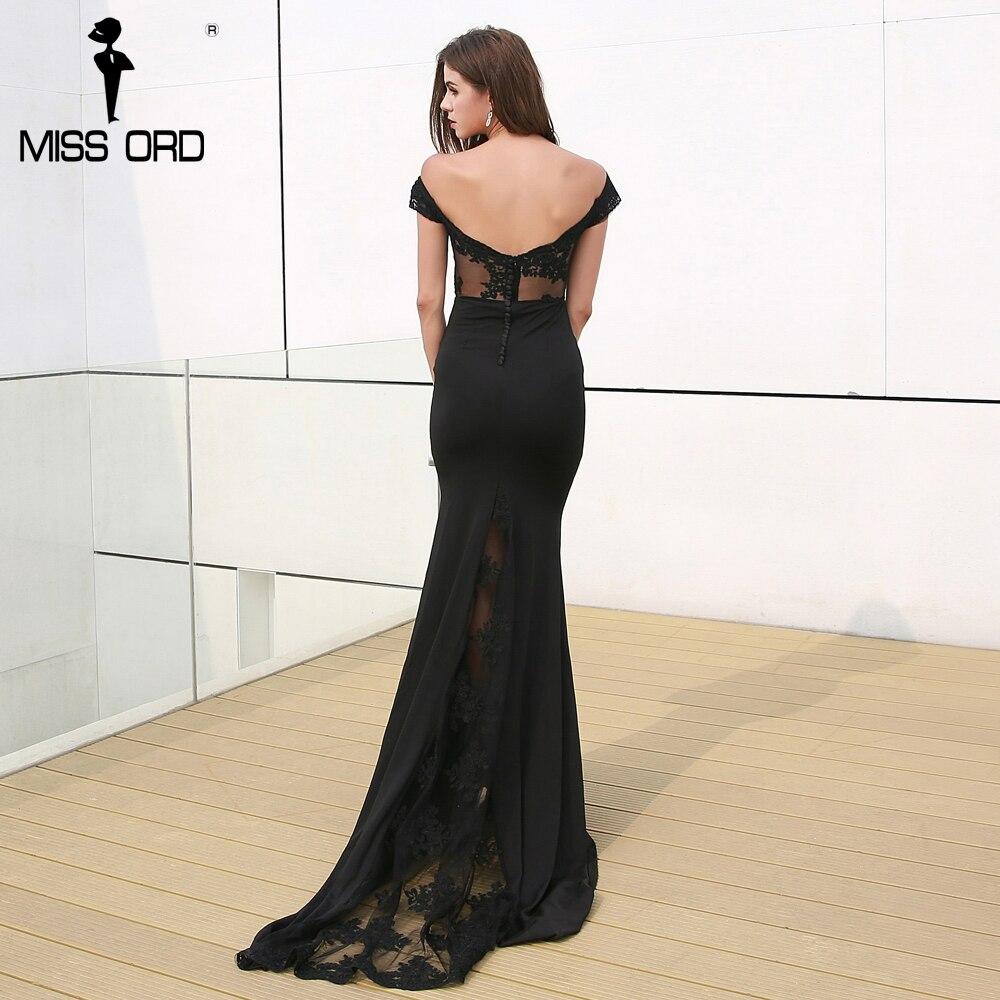 Missord 2018 сексуальное в пол кружевное с открытой спиной элегантное вечернее платье bodycon FT3900-1