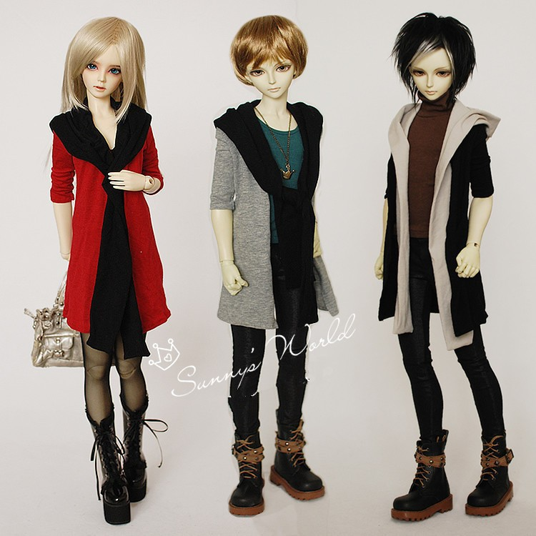 Hoodie Scarf Coat for BJD Doll 1/4 MSD 1/3.SD17, Uncle LUTS. DOD. AS DZ. SD Doll Clothes CMB21 кукла bjd luts 1 4 bjd sd kid delf bory