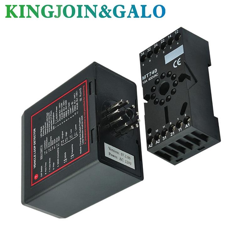 Single Channel Inductive Vehicle Loop Detector Controller Module For Barrier Gate Opener Motor